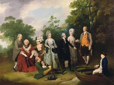 The Oliver and Ward Families in a Garden, C.1788