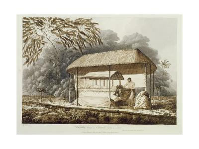 Waheiadooa, Chief of Oheitepeha, Lying in State, from 'Views in the South Seas', Pub. 1789