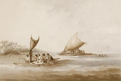 Boats of the Friendly Islands, from 'Views in the South Seas', Pub. 1791