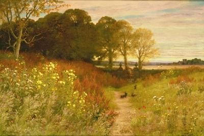 Landscape with Wild Flowers and Rabbits