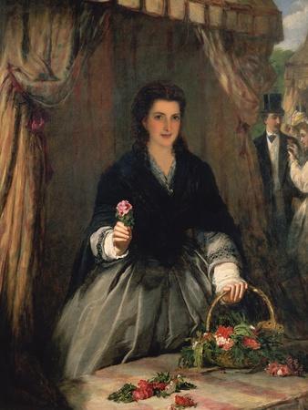 The Flower Seller, 1865
