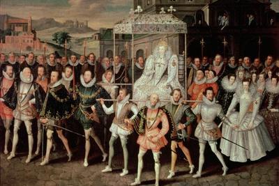 Queen Elizabeth I (1533-1603) Being Carried in Procession (Eliza Triumphans) C.1601