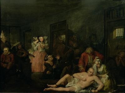 A Rake's Progress VIII: the Rake in Bedlam, 1733