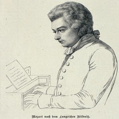 Portrait of Wolfgang Amadeus Mozart (1756-91)