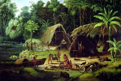 Carib Village, British Guyana, 1836