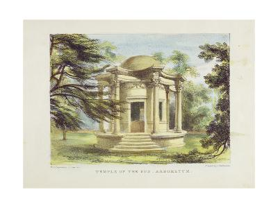 Temple of Victory, Kew Gardens, Plate 19 from 'Kew Gardens: a Series of Twenty-Four Drawings on…