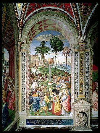 Aeneas Sylvius Piccolomini (1405-64) Presents Eleonora of Aragon to Frederick III (1415-93) on…
