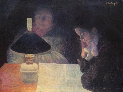 Reading under the Lamp, 1890