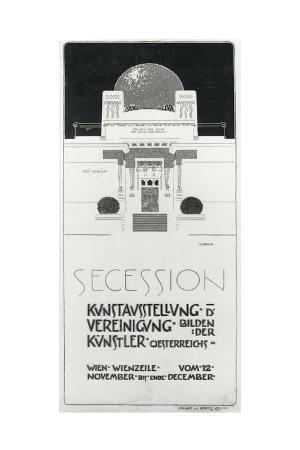 Poster Advertising Secession Exhibition of Austrian Artists, 1898
