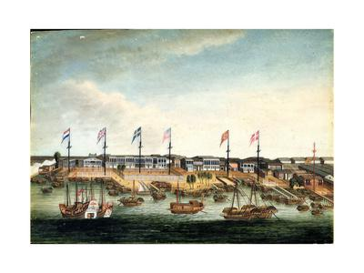The Hongs at Canton, before 1820