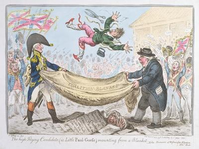 The High Flying Candidate (I.E Little Paul Goose) Mounting from a Blanket, Published by Hannah…