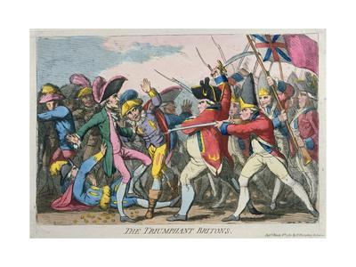 The Triumphant Britons, Published by Hannah Humphrey in 1780