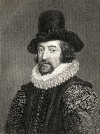 Francis Bacon, 1st Baronet (1561-1626) from 'Gallery of Portraits', Published in 1833