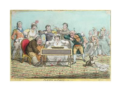 Playing in Parts, Etched by James Gillray (1757-1815) Published by Hannah Humphrey in 1801