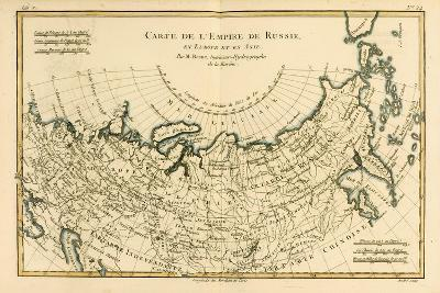 Map of the Russian Empire, in Europe and Asia, from 'Atlas De Toutes Les Parties Connues Du Globe…