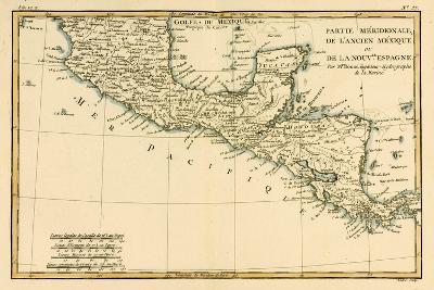 Southern Mexico, from 'Atlas De Toutes Les Parties Connues Du Globe Terrestre' by Guillaume…