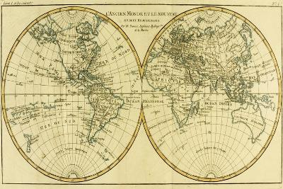 Map of the World in Two Hemispheres, from 'Atlas De Toutes Les Parties Connues Du Globe…