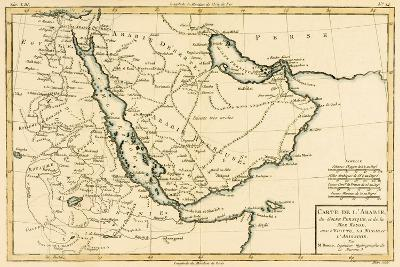Arabia, the Persian Gulf and the Red Sea, with Egypt, Nubia and Abyssinia, from 'Atlas De Toutes…