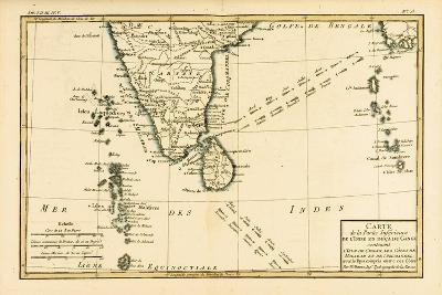 Southern India and Ceylon, from 'Atlas De Toutes Les Parties Connues Du Globe Terrestre' by…