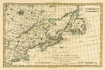 Eastern Canada, Newfoundland, Nova Scotia and St John Island, from 'Atlas De Toutes Les Parties…
