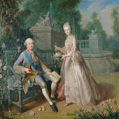 Louis Jean Marie De Bourbon, Duc De Penthievre with His Daughter, Louise-Marie Adelaide