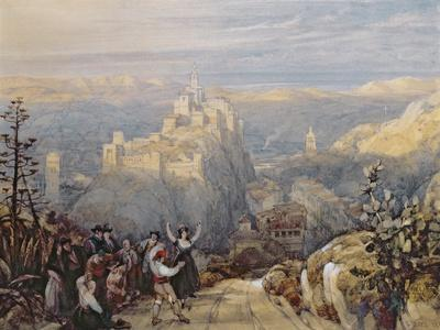 The Town and Castle at Loja, Spain, 1834