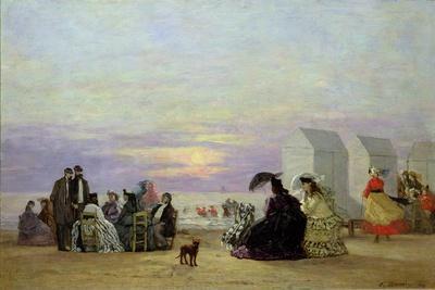 Beach Scene, Evening, 1864