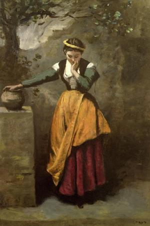 Dreamer at the Fountain, C.1860