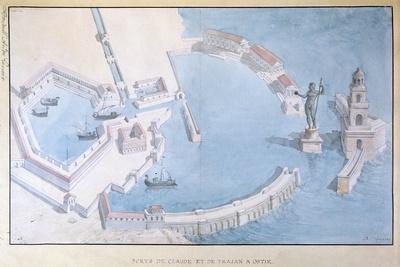 Reconstruction of the Roman Port of Ostia, C.1850