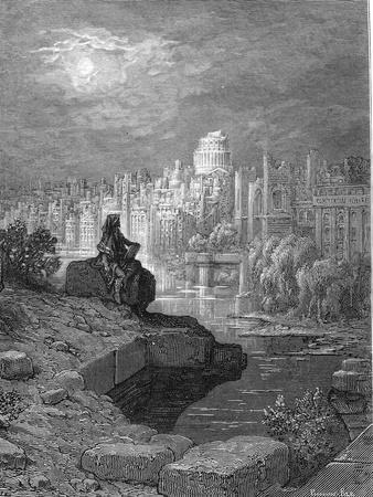 'The New Zealander' Illustration from 'London: a Pilgrimage' by Blanchard Jerrold, 1872