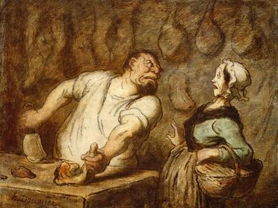The Butcher, Montmartre Market, C.1857-58