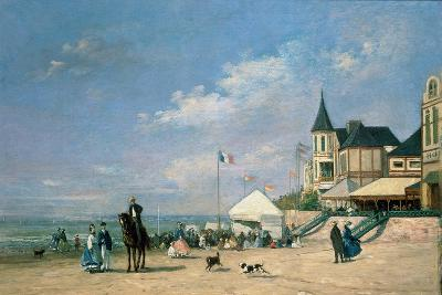 The Beach at Trouville, 1863