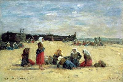 Berck, Fisherwomen on the Beach, 1876