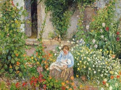 Mother and Child in the Flowers, 1879