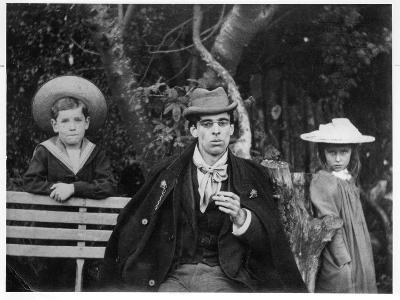 William Butler Yeats (1865-1939) with Charles and Thea Rolleston, 1894