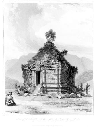 Shrine on Mountain Dieng or Prahu in Central Java, from 'History of Java', Volume 2, Published 1817