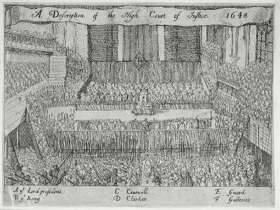 A Description of the High Court of Justice (The Trial of Charles I), 17th Century