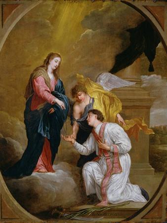 St Valentine Kneeling in Supplication