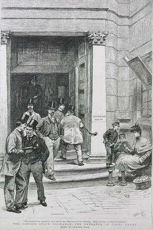 Stock Exchange Entrance in Capel Court, 1891