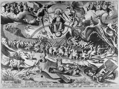 The Last Judgement, Engraved by Pieter Van Der Heyden, 1558