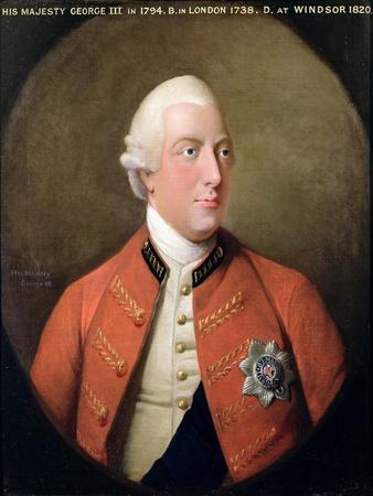 Portrait of George III (1738-1820) 1794