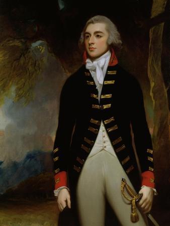 Portrait of John Richard West (1758-95) 4th Earl De La Warr, 1790