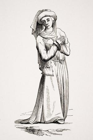 Barrister, after a Drawing in a 15th Century Manuscript, from 'Le Moyen Age Et La Renaissance' by…