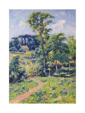 Landscape with Trees and a Path Leading to a Cottage