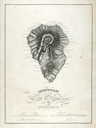 Physical Map of La Palma, 1814