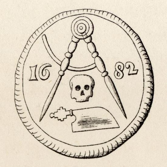 Masonic Seal of the Carpenters of Maestricht, Dated 1682, from 'The History  of Freemasonry,…