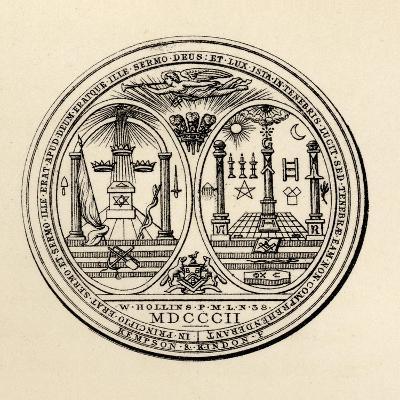 Masonic Seal, 1802, from 'The History of Freemasonry, Volume III', Published by Thomas C. Jack,…