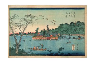 Spring View of the Benten Shrine, Shinobazu Pond, C.1830