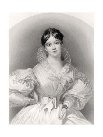 Letitia Elizabeth Landon, Engraved by J. Thompson, from 'The National Portrait Gallery, Volume…