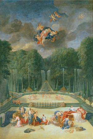 The Groves of Versailles. View of the Theatre of Water with Nymphs Waiting to Receive Psyche